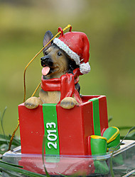 Cute German Shepherd Decorative Ornament Christmas Gift for Pet Dogs Lovers