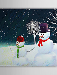 Vacances cadeau de Noël Peinture à l'huile prêt à accrocher Mère et fils prêt à accrocher