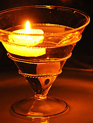 "3.5""Cocktail Glass Style Glass Candle Votive Holder"