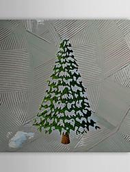 Christmas Holiday Gift Oil Painting Christmas Tree with Shining Lights Ready to Hang