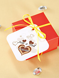 Favor personalizado Tags - Coração de Chocolate (conjunto de 36)