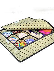 8 Cells Brown Spots Pattern Storage Box