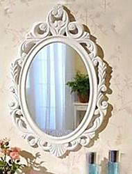 "23.75 ""White Floral Bloom Estilo Oval Relógio de parede"