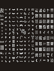 NAILCOLOR 221 Designs Nail Art Stamp Schilderij Plaat / Big Nail Art Sjablonen / Nail Stencils NMF010