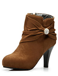 Suede Chunky Heel Ankle Boots (weitere Farben)