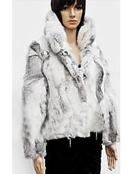 Langarm Tägliche Rabbit Fur Coat Lässig (weitere Farben)