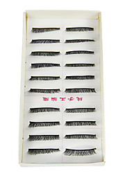 10 Pairs Makeup Handmade Natural Fashion Long False Eyelashes