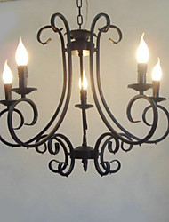 Chandelier ,  Traditional/Classic Painting Feature for Candle Style Metal Bedroom Dining Room Kitchen