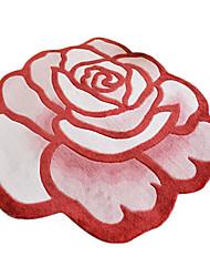 90 * 90cm acrílico tapete floral contemporâneo