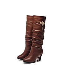 Guciheaven Women's Brown Diamond Over The Knee Boots