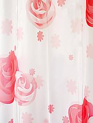 "Shower Curtain High Class Red Rose Print W71 x L71"""