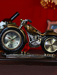 "12""Retro Type Motocycle Style Polyresin Tabletop Clock"