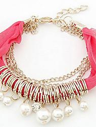 (1 PC) Lace Bracelet de l'amitié de la mode 45cm femmes (rouge, bleu, noir, blanc, rose, orange)