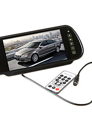 7 Inch Color TFT-LCD Car Rearview Mirror Monitor With Remote Support USB,SD,MP5