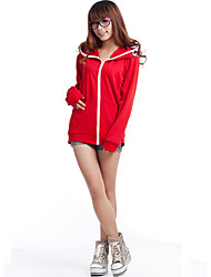 Inspired by Vocaloid Gumi Video Game Cosplay Costumes Cosplay Hoodies Patchwork Red Long Sleeve Coat
