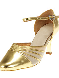 Customizable Women's Dance Shoes Modern/Ballroom Leatherette Customized Heel Black
