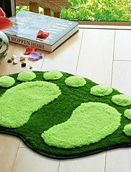 "Bath Rug Footprint Pattern 16x24"" Green"