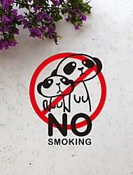 Warning Sign No Smoking Wall Stickers