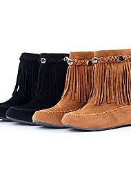 De las mujeres clásicas del invierno borla del remache botas cortas