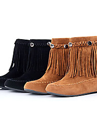 Women's Classic Winter Rivet Tassel Short Boots