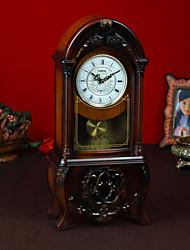 """19 """"Tipo de Brown de sobremesa Reloj Retro"""