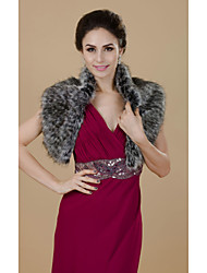 Magnificent Short Sleeve Faux Fur Party/Casual Shawls