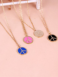 Women's Pendant Necklaces Alloy Punk White Black Blue Pink Jewelry Party