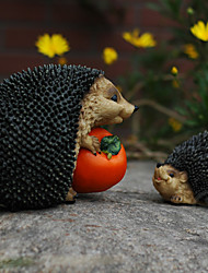 """8""""Hedgehog With Tomato Character Polyresin Collectibles"""