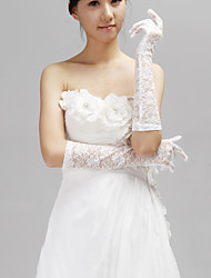 Elbow Length Fingertips Glove Lace Bridal Gloves/Party/ Evening Gloves