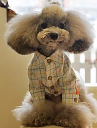 Moda Controllare maglietta stile fresco per animali Cani (formati assortiti)