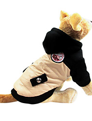 Dog Coat / Hoodie Beige Winter Classic