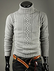 Men's Sweaters , Acrylic/Polyester Casual/Work KICAI