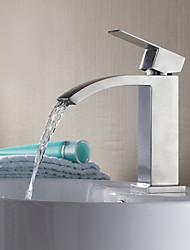 Contemporain Design Chrome cascade lavabo robinet