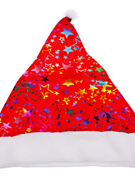 Red Base Colorful Santa Claus Hat for Christmas