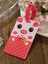 Pink Pig Luggage Tag Favors