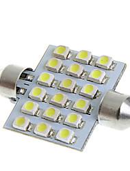 39mm 18 1210 SMD LED White Car Interior Dome Festoon Light Lamp Bulb