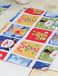 """Christmas Snowman Polyester Placemats, Set of 6, 12""""*18"""" 1pc"""
