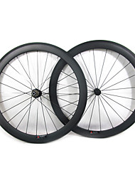 Farsports-700c Road 50mm Full Carbon Clincher Road Bicycle Wheels