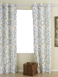 (Two Panels) Country Leaf Energy Saving Curtain