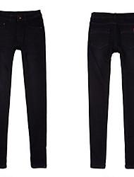 Skinny Jeans in pile pantaloni per donna
