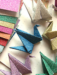 Flash Powder Papercranes Origami Materials(12 Pieces)