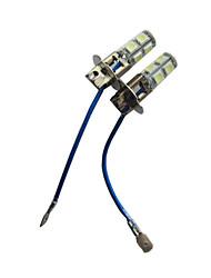 H3 9-5050 SMD Waterproof Flash LED Car Fog Lights (1 Pair)