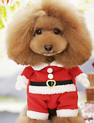 Perros Disfraces / Abrigos Rojo Invierno Navidad Navidad