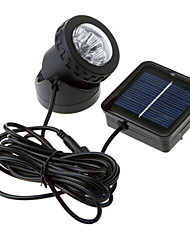 6-LED Spotlight Garden Lamp Flood Waterproof Solar Powered Outdoor