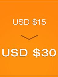 pagar R $ 15 para um cupom de R $ 30 - 2 ª rodada (válido até 15 de abril para as ordens de mais de USD $ 100)