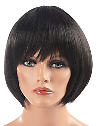 Clássico Bob Wig Haircut (Black)