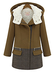 Manteau à Capuche en Tweed