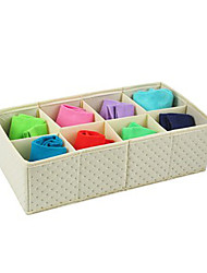 8 Cells Underwear Storage Box No Lid-2 Colours Available