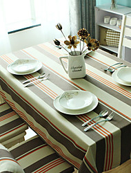 Table Cloth, Polyester Striped