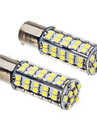 2 Pcs 1156 BA15S 4W 68x3528SMD 330-360LM 6000K Cool White Light Bulb LED (12V)